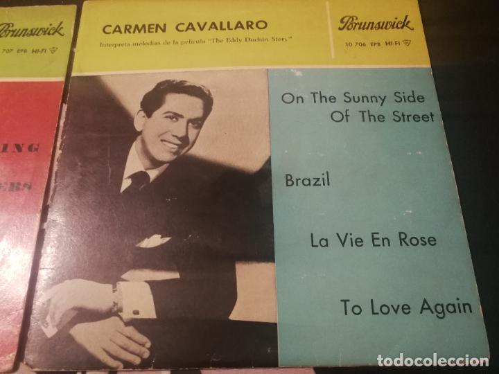 Discos de vinilo: CARMEN CAVALLARO - THE EDDY DUCHIN STORY B.S.O. - ON THE SUNNY SIDE OF THE STREET VOL. 1 Y 2. - Foto 3 - 232217750