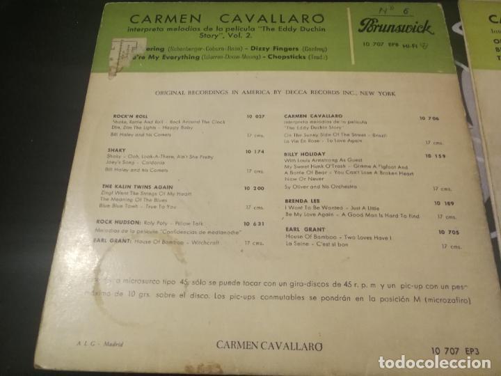 Discos de vinilo: CARMEN CAVALLARO - THE EDDY DUCHIN STORY B.S.O. - ON THE SUNNY SIDE OF THE STREET VOL. 1 Y 2. - Foto 4 - 232217750
