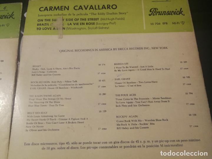 Discos de vinilo: CARMEN CAVALLARO - THE EDDY DUCHIN STORY B.S.O. - ON THE SUNNY SIDE OF THE STREET VOL. 1 Y 2. - Foto 5 - 232217750