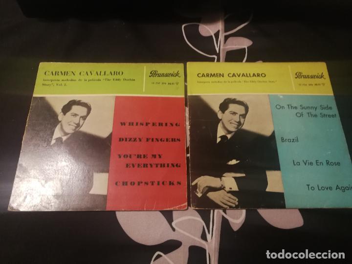 CARMEN CAVALLARO - THE EDDY DUCHIN STORY B.S.O. - ON THE SUNNY SIDE OF THE STREET VOL. 1 Y 2. (Música - Discos de Vinilo - EPs - Bandas Sonoras y Actores)