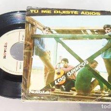 Discos de vinilo: LOS BRINCOS ----- TU ME DIJISTE ADIOS & ERES TU -- AÑO 1965 VG +. Lote 232220955