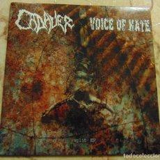 Discos de vinilo: CADAVER / VOICE OF HATE – SPLIT EP 2006 - VINILO COLOR. Lote 232247275