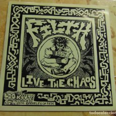 Disques de vinyle: FILTH – LIVE THE CHAOS - EP LOOKOUT RECORDS 1992. Lote 232247295
