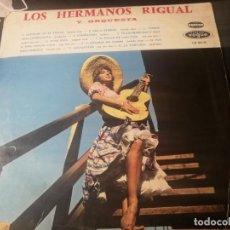 Discos de vinilo: LOS HERMANOS RIGUAL Y SU ORQUESTA LLORAME EN EL PECHO, CIELO ETERNO LP BUEN ESTADO. Lote 232251135