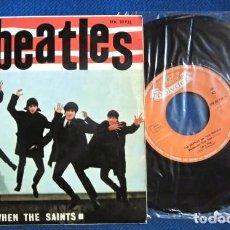 Discos de vinilo: LOS BEATLES CON SHERIDAN SINGLE EP POLYDOR ESPAÑA ORIGINAL EPOCA 1964 CONJUNTOS MUSICALES. Lote 232301910