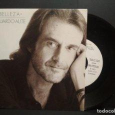 Discos de vinilo: SINGLE LUIS EDUARDO AUTE - LA BELLEZA + DEJALO YA ARIOLA BMG 1989 PEPETO. Lote 232302025