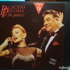 Discos de vinilo: PLACIDO DOMINGO / PALOMA SAN BASILIO – PLACIDO PALOMA POR FIN JUNTOS! EN VIVO - DOBLE LP 1991 PEPETO. Lote 232306290