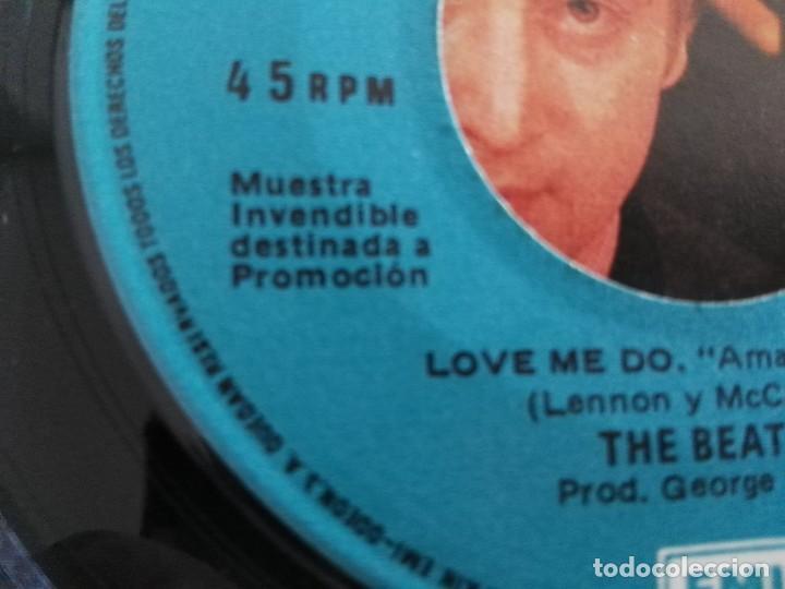 Discos de vinilo: THE BEATLES - LOVE ME DO / P.S. I LOVE YOU / SINGLE ODEON DE 1982 PROMOCIONAL NUNCA ESTRENADO - Foto 4 - 232329110