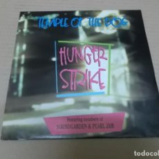Disques de vinyle: TEMPLE OF THE DOG (SOUNDGARDEN & PEARL JAM) (SN) HUNGER STRIKE AÑO 1991. Lote 76780859