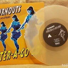Discos de vinilo: GUTTER - A -GO GO ! - THE BURNOUTS MINI DISCO - DISCO BLANCO. Lote 232343110