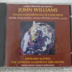 Discos de vinilo: CD JOHN WILLIAMS LEONARD SLATKIN THE LONDON SYMPHONY ORCHESTRA CONCERTO VIOLIN FLAUTA. Lote 232372875