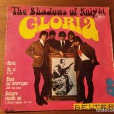 Dischi in vinile: THE SHADOWS OF KNIGHT - GLORIA + 3 ****** RARO EP ESPAÑOL 1966 MIRAR ESTADO. Lote 232380100