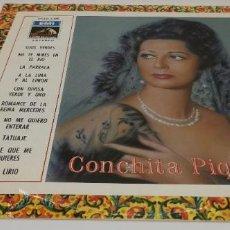 Discos de vinilo: CONCHITA PIQUER LP EMI LA VOZ DE SU AMO CSDL 1.458 1968 CANCIONES EN PORTADA. Lote 232405345