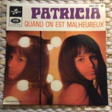 Discos de vinilo: PATRICIA EP EDIC FRANCIA DISCO EXCELENTE CON PESTAÑA INTERIOR. Lote 232407835