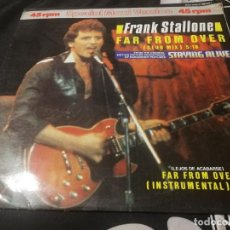 Discos de vinilo: FRANK STALLONE FAR FROM OVER CLUB MIX SOUNDTRACK STAYING ALIVE MAXI SINGLE VINILO. Lote 232407930