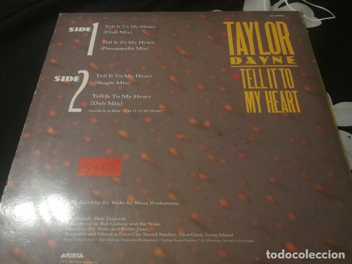 Discos de vinilo: ANTIGUO VINILO / OLD VINYL : TAYLOR DAYNE : TELL IT TO MY HEART (Maxi single 1987) - Foto 2 - 277552503