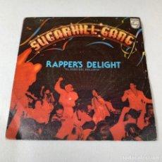 Discos de vinilo: SINGLE SUGARHILL GANG - RAPPER'S DELIGHT. Lote 232424220