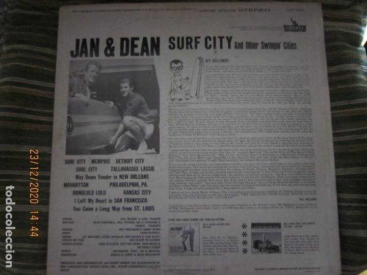 Discos de vinilo: JAN & DEAN - SURF CITY LP - ORIGINAL U.S.A. - LIBERTY RECORDS 1964 - !!!STEREO!!! - - Foto 2 - 232424735