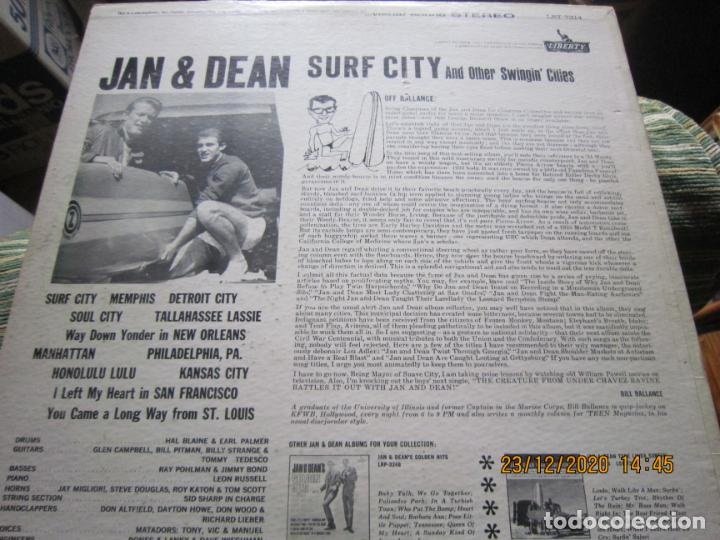 Discos de vinilo: JAN & DEAN - SURF CITY LP - ORIGINAL U.S.A. - LIBERTY RECORDS 1964 - !!!STEREO!!! - - Foto 14 - 232424735