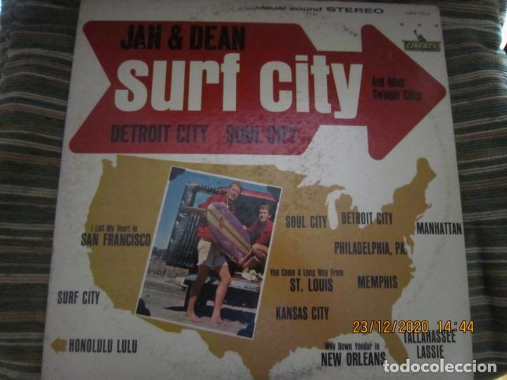JAN & DEAN - SURF CITY LP - ORIGINAL U.S.A. - LIBERTY RECORDS 1964 - !!!STEREO!!! - (Música - Discos - LP Vinilo - Pop - Rock Internacional de los 50 y 60)