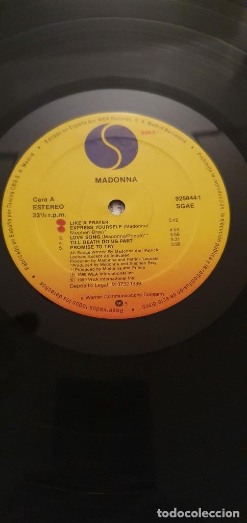 Discos de vinilo: Madonna – Like A Prayer Label: Sire – WX 239, Sire – 925 844-1 Format: Vinyl, LP, Album + - Foto 6 - 232471160