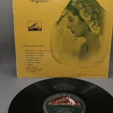 Discos de vinilo: CONCHITA PIQUER - 10 PULGADAS EMI, LA VOZ DE SU AMO, LDLP 1.012 SIN USO. Lote 232554060