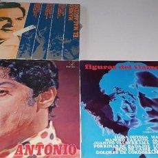Discos de vinilo: LOTE 3 LP VINILO,- - COLUMBIA 1970. MANOLO EL MALAGUEÑO, ANTONIO Y FIGURAS DEL FLAMENCO. Lote 232553815
