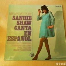 Discos de vinilo: SANDIE SHAW CANTA EN ESPAÑOL - EUROVISION 67 -, EP, MARIONETAS EN LA CUERDA + 3, AÑO 1967. Lote 232608325