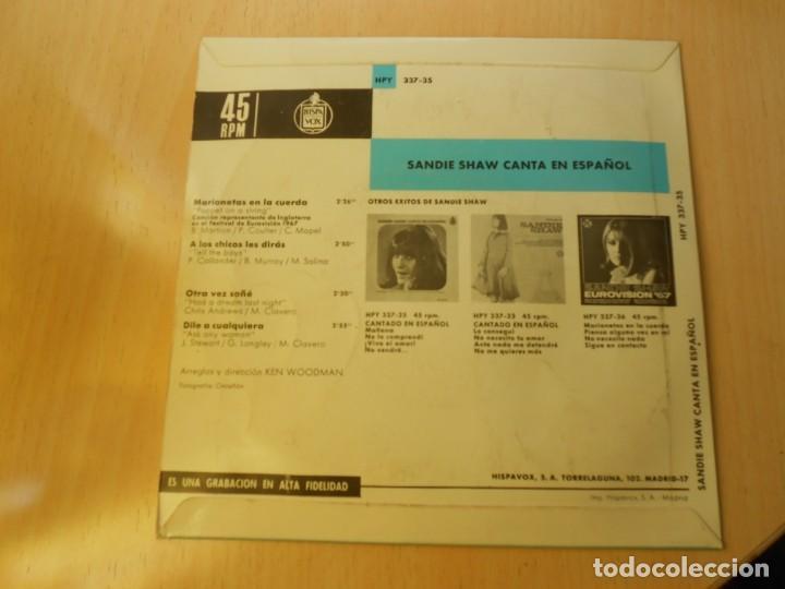 Discos de vinilo: SANDIE SHAW canta en Español - EUROVISION 67 -, EP, MARIONETAS EN LA CUERDA + 3, AÑO 1967 - Foto 2 - 232608325