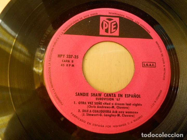 Discos de vinilo: SANDIE SHAW canta en Español - EUROVISION 67 -, EP, MARIONETAS EN LA CUERDA + 3, AÑO 1967 - Foto 4 - 232608325