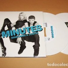 "Discos de vinilo: MADONNA - 4 MINUTES / GIVE IT TO ME - SINGLE 7"" DOBLE BLANCO - 2008 - USA IMPORT. Lote 232646255"