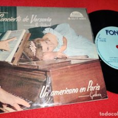 Disques de vinyle: SEMPRINI ORQUESTA CONCIERTOS VARSOVIA ADDINSEL/AMERICAN PARIS GERSHWIN EP 1961 FONIT ESPAÑA SPAIN. Lote 232666695