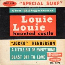 Discos de vinilo: THE KINGSMEN - LOUIE LOUIE + 3 EP.S - ENVIO GRATIS. Lote 232733190
