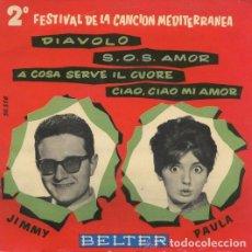 Discos de vinilo: JIMMY FONTANA / PAULA - 2º FESTIVAL CANCION MEDITERRANEA - DIAVOLO + 3 - EP SPAIN 1960. Lote 232759700