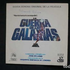 Discos de vinilo: BANDA SONORA ORIGINAL DE LA PELICULA LA GUERRA DE LAS GALAXIAS STAR WARS, CENTURY RECORDS 02.1275/0. Lote 232779630