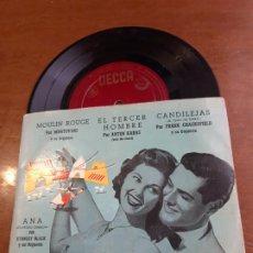 Discos de vinilo: STANLEY BLACK, MANTOVANI, ANTON KARAS, FRANK CHACKSFIELD: ANA + 3 (DECCA, 1956)-EP. Lote 232807910