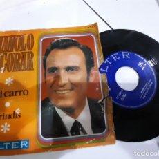 Discos de vinilo: SINGLE MANOLO ESCOBAR MI CARRO BRINDIS. Lote 232836935
