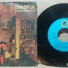 Discos de vinilo: ABBA / ONE OF US / SINGLE 7 INCH. Lote 232841585