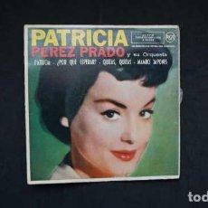 Discos de vinilo: PATRICIA PEREZ PRADO Y SU ORQUESTA PATRICIA, ¿ POR QUE ESPERAR ?, QUIZAS QUIZAS, RCA 3-20209. Lote 232848630