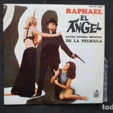 Discos de vinilo: RAPHAEL EL ANGEL BANDA SONORA ORIGINAL DE LA PELICULA, CORAZON CORAZON, EL ANGEL ,HISPAVOX HH 17.423. Lote 232860500