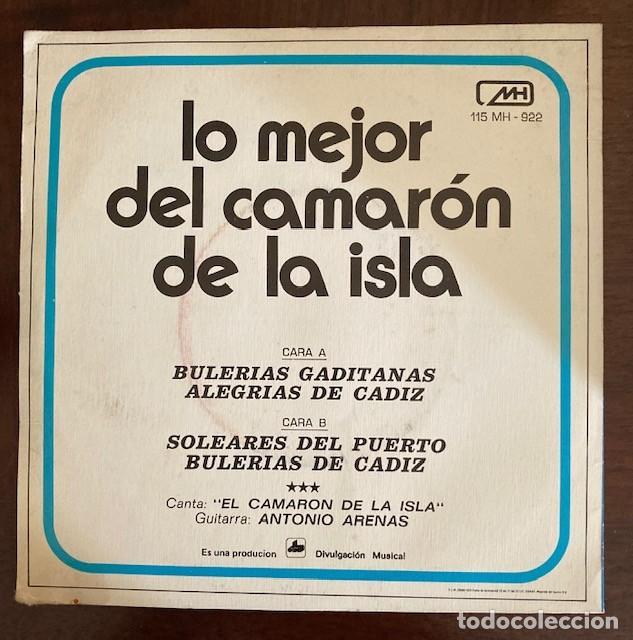 Discos de vinilo: LO MEJOR DEL CAMARÓN DE LA ISLA - 1972 - Foto 2 - 232874645