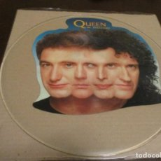 Discos de vinilo: QUEEN - BREAKTHRU - UNCUT PICTURE DISC - QUEEN PD11 - THE MIRACLE. Lote 232891835
