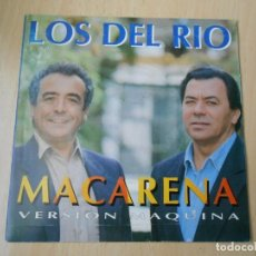 Disques de vinyle: DEL RIO, LOS - VERSION MAQUINA -, SG, MACARENA - RIVER FE-MIX 103 BPM + 1, AÑO 1993 PROMO. Lote 232920750