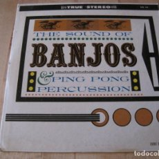 Discos de vinilo: LP BOB RICKLES & THE BOB FREEDMAN ORCH. SOUND OF BANJOS & PING PONG CORONET 140 USA 1961 STEREO. Lote 232934055