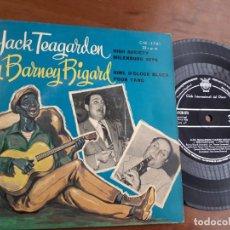 Discos de vinilo: JACK TEAGARDEN & BARNEY BIGARD HIGH SOCIETY/MILENBURG JOYS +2 EP 1959 -. Lote 232939838