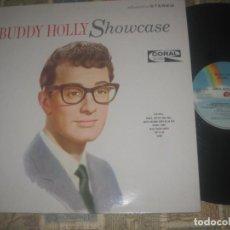 Discos de vinilo: BUDDY HOLLY SHOWCASE (MCA-1964) RE EDITADO ENGLAND SIN SEÑALES DE USO. Lote 232963875