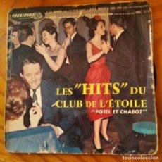 Discos de vinilo: LES HITS DU CLUB DE L'ETOILE - EP CON: FRANKIE AVALON, LOS MUCHACHOS, CAGAICEROS & LOS WA GA DA. Lote 232964675