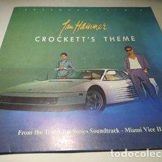 "Discos de vinilo: MAXI - JAN HAMMER – CROCKETT'S THEME (EXTENDED 12"" MIX) - 258 359-0 (VG+ / VG+) EURO 1986. Lote 233012662"