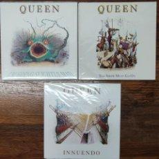 Disques de vinyle: QUEEN - LOTE 3 SINGLES DEL LP INUENDO. Lote 233012835