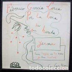 Discos de vinilo: FEDERICO GARCÍA LORCA, RAFAEL FERRER, JEAN COCTEAU – YERMA. Lote 233105755